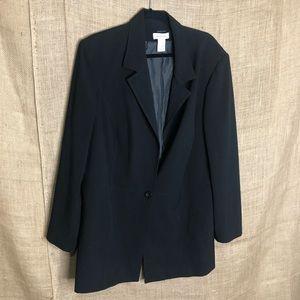 Avenue Black Blazer Plus Size Womens 20 20W Career